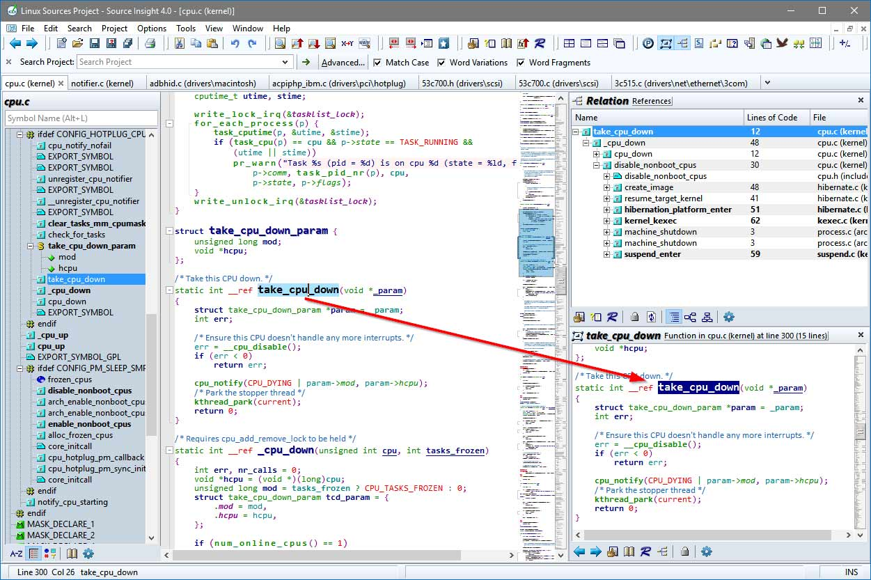 Source Insight Programming Editor and Code Browser
